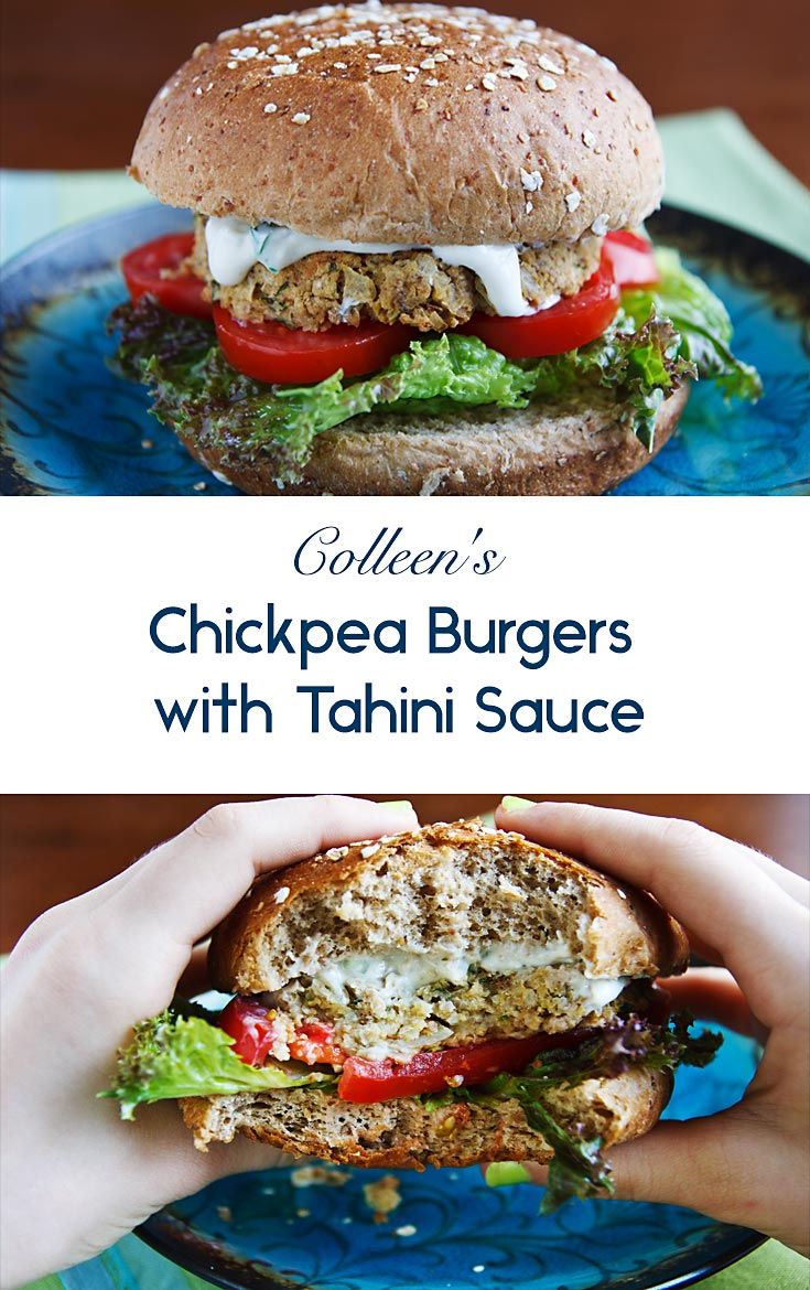Inspired by falafel, these chickpea burgers are much healthier since they forgo the deep-frying typical of this Middle Eastern staple. #vegan #wfpb #plantbased #veggieburgers