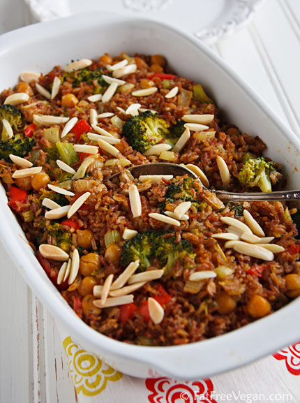 Vegan Broccoli and Rice Casserole