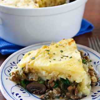 Hearty Lentil and Mushroom Shepherd's Pie