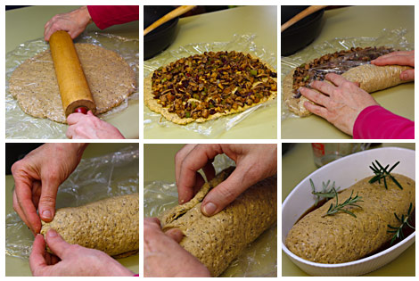 Making the Roulade