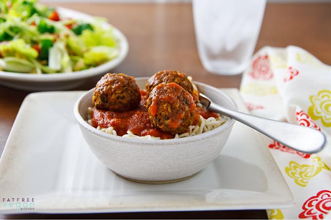 Spaghetti and Beetballs (Vegan Meatballs)