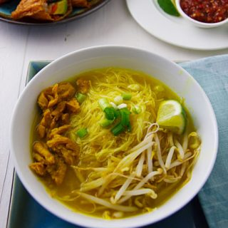 "Javanese-Inspired ""Chicken"" Soup (Vegan Soto Ayam)"