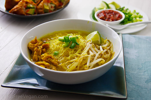 "Javanese Inspired ""Chicken"" Noodle Soup"