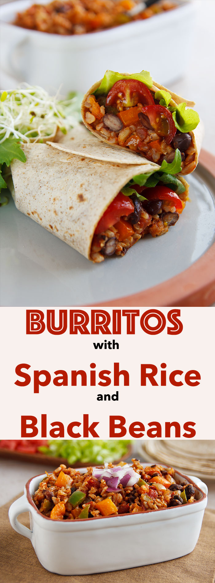 This easy vegan Spanish rice makes a great burrito filling or side dish and doesn't take much longer than heating up a can of beans.