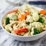 Pasta with Vegetables and White Sauce