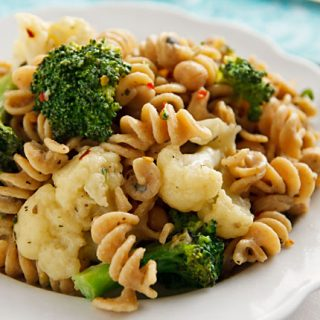 Pasta and Vegetables with White Sauce