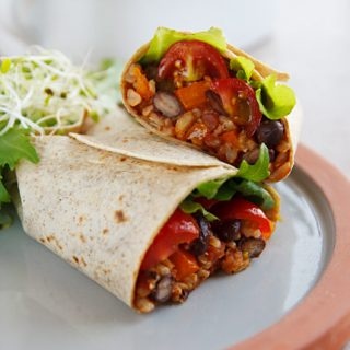Burritos with Spanish Rice and Black Beans