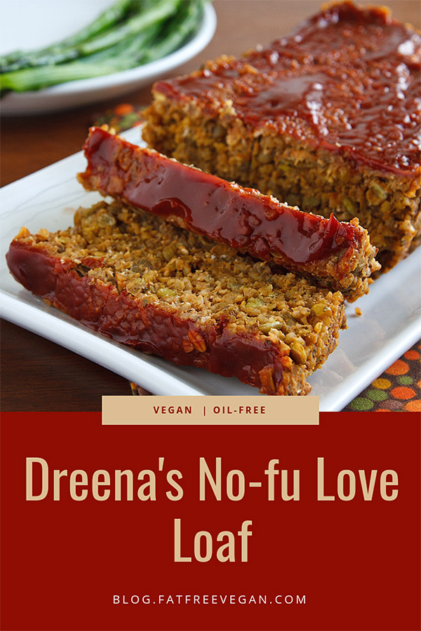 Dreena's No-fu Love Loaf: Hearty, savory, and satisfying, this lentil-based vegan meatloaf is soy-free and gluten-free. Delicious on its own or as a sandwich filling. Perfect for Thanksgiving and other holidays. #vegan #glutenfree #plantbased