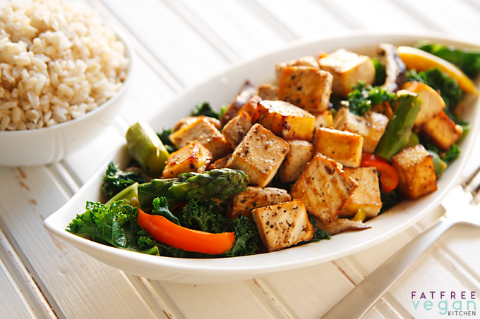 Thai Black Pepper and Garlic Tofu