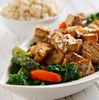 Thai Black Pepper and Garlic Tofu - Vegan and Low-Fat Recipe