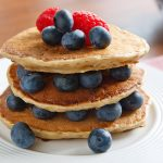 McDougall's Fluffy Pancakes with Blueberries and Raspberries
