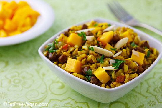 Curried Rice Salad with Black Chickpeas and Mango | Recipe from ...