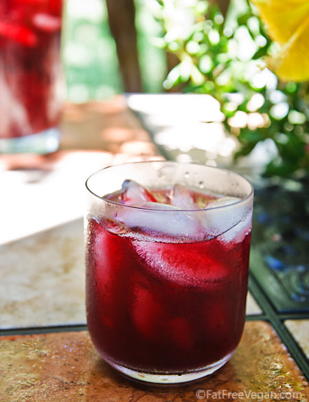 Hibiscus Blueberry Cooler Fatfree Vegan Kitchen
