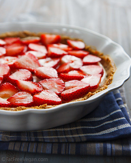 No Bake Vegan Strawberry Pie Recipe From Fatfree Vegan Kitchen