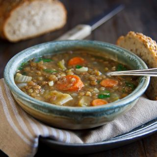 Lentil Soup with Coriander and Cumin from FatFree Vegan Kitchen