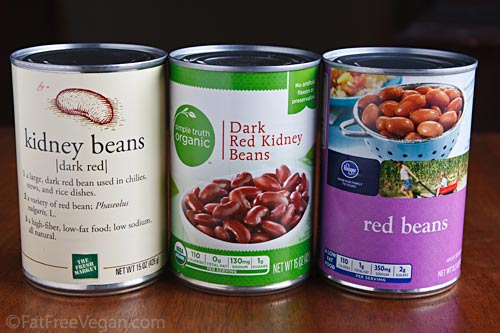 Canned Red Beans without Sugar