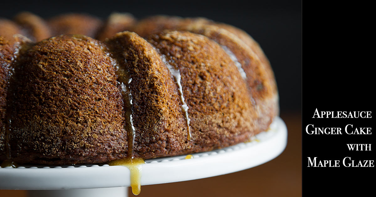 Applesauce Ginger Cake with Maple Glaze