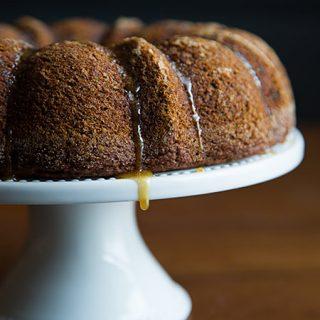 Applesauce Ginger Cake with Maple Glaze