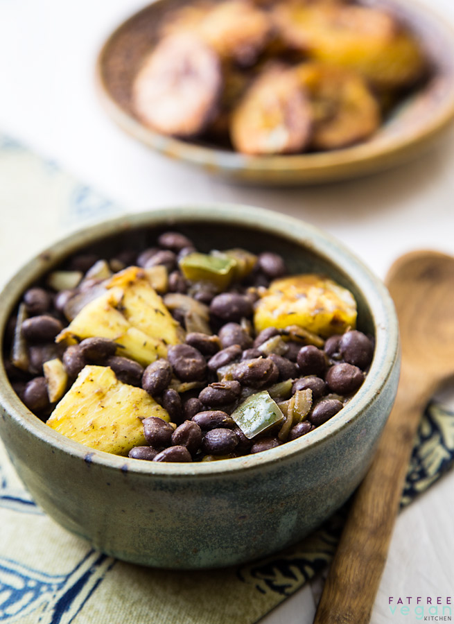 Caribbean Black Beans and Pineapple