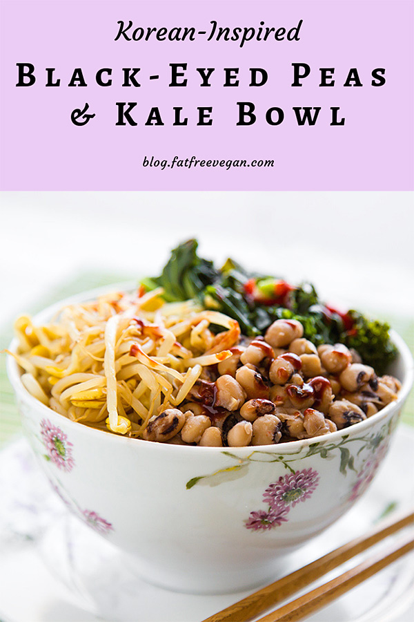 Korean-Inspired Black-eyed Peas and Kale Bowl