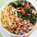 Korean-Inspired Black-eyed Peas and Kale Bowl