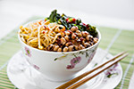 Thumbnail image for Korean-Inspired Black-eyed Peas and Kale Bowl
