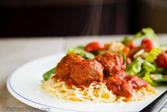 Gluten-Free Meatballs and Spaghetti Squash