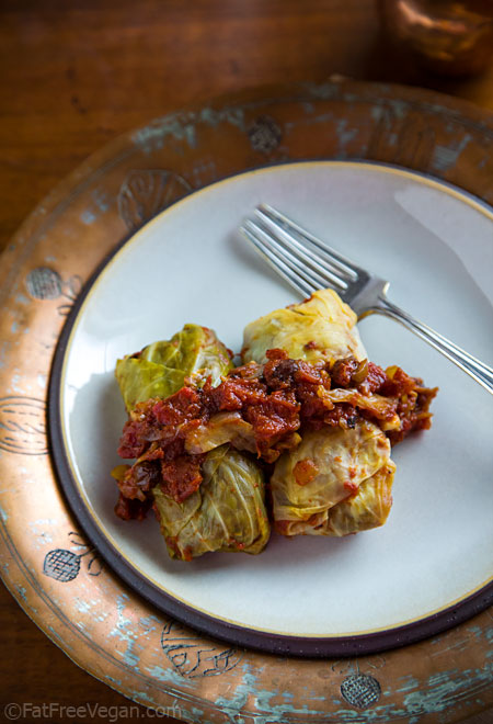 Vegan Cabbage Rolls Fatfree Vegan Kitchen
