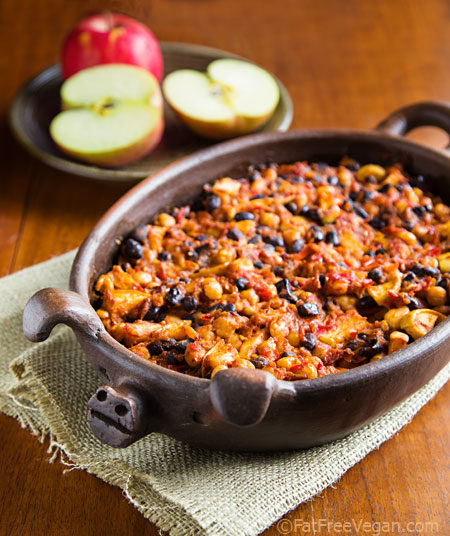 Smoky Apple Vegan Baked Beans from FatFree Vegan Kitchen