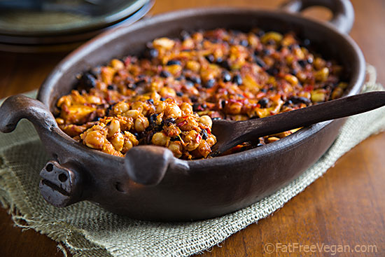 Smoky Apple Vegan Baked Beans