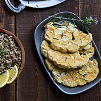 Hummus-Crusted Cauliflower Steaks