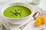 Thumbnail image for Minty Raw Pea and Spinach Soup