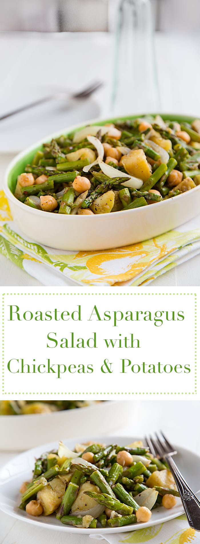 Delicious warm or cold, this hearty, vegan asparagus salad makes a great one-pot meal or side dish. Low-fat and gluten-free.