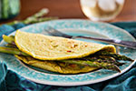 Thumbnail image for Chickpea Flour Omelets with Asparagus