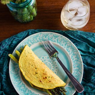 Chickpea Flour Omelets with Asparagus