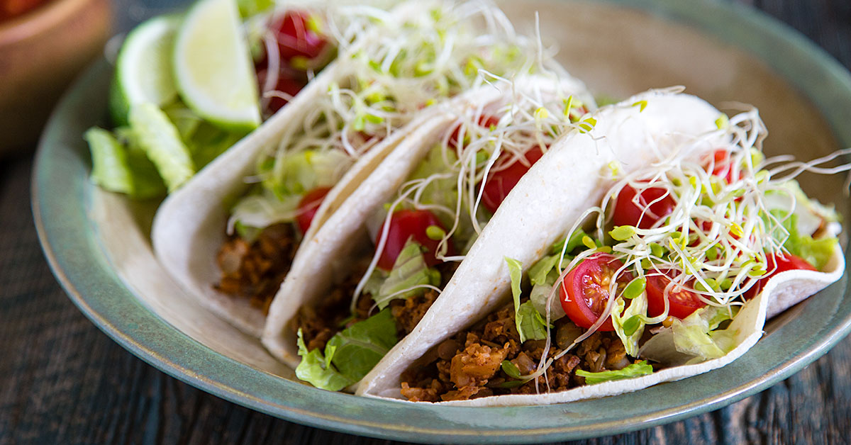 Lentil and Cauliflower Rice Tacos Recipe