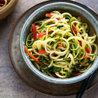 Zucchini Noodles with Sesame-Peanut Sauce