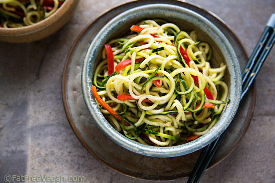 Zucchini Noodle Salad With Spicy Peanut Sauce Recipes — Dishmaps