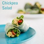 3-Minute Chickpea Salad Roll