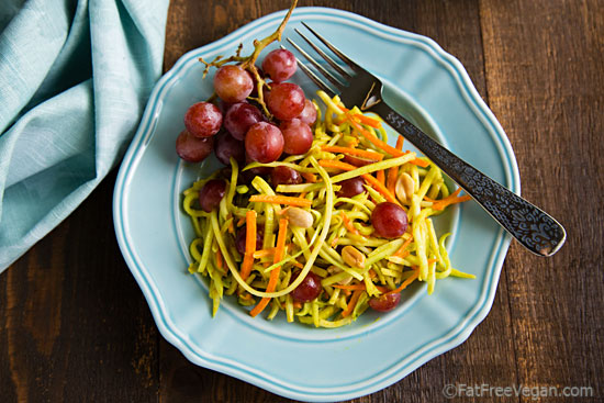 Broccoli Slaw with Pineapple Curry Dressing