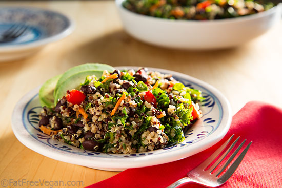 Kale and Quinoa Salad with Black Beans Recipe