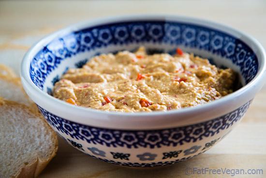 Vegan Pimento Cheese Style Hummus