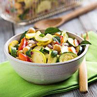 Marinated Zucchini and Chickpea Salad Recipe