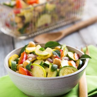 Marinated Zucchini and Chickpea Salad