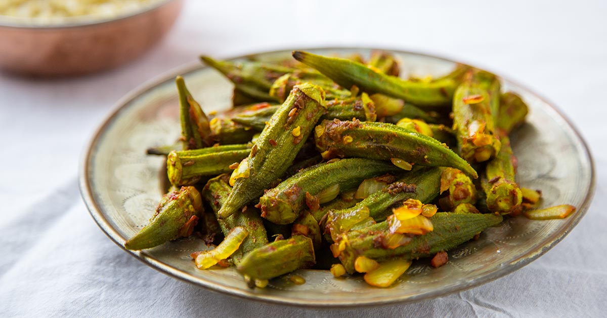 Roasted Okra Masala Recipe