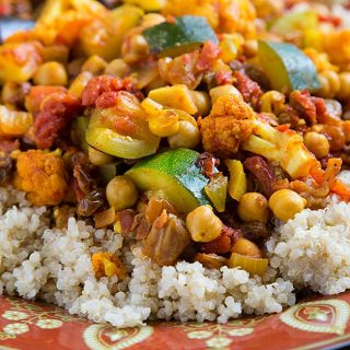 Cumin-Infused Vegetables and Chickpeas