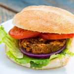 African-Inspired Sweet Potato Black Bean Burgers