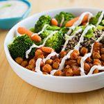 Chickpea and Broccoli Bowl with Tahini Sauce