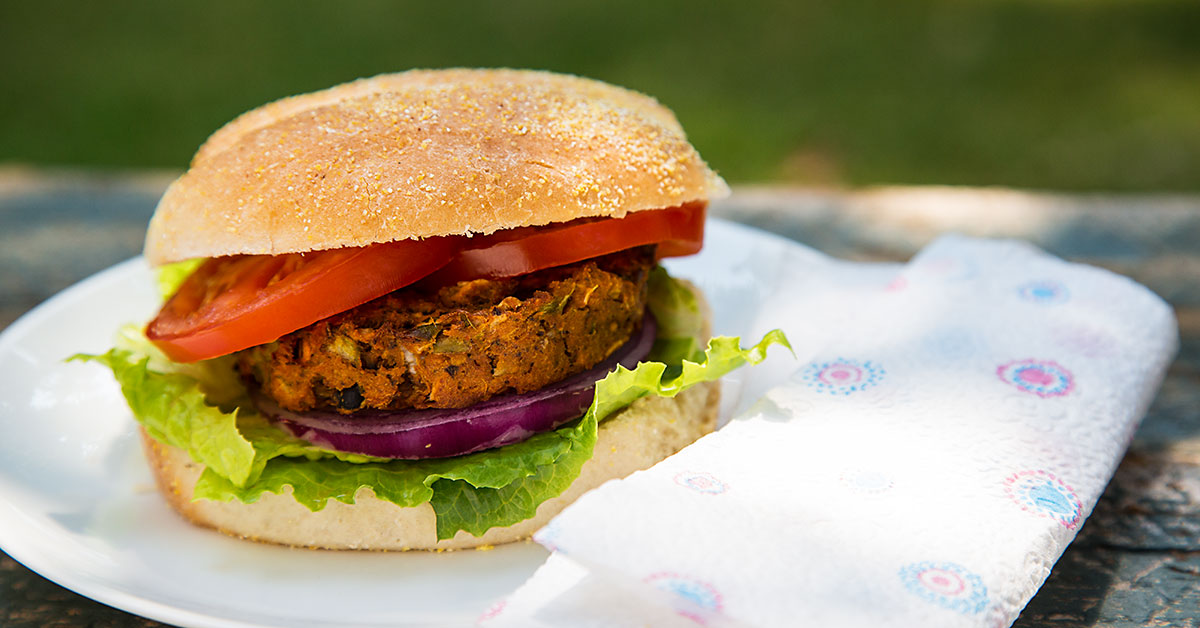 African-Inspired Sweet Potato and Black Bean Burgers Recipe