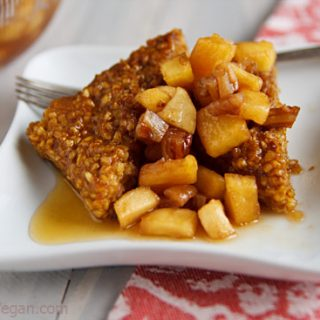Pumpkin Oatmeal Cakes with Apple-Pecan Compote